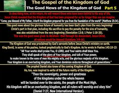 They follow the Lamb wherever he goes: The Good News of the Kingdom of God…