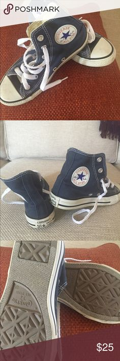 Converse Chucks boys high tops Can't start school without these, gently loved!! Converse Shoes Sneakers