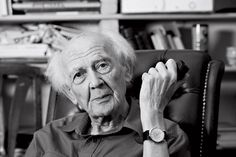 Zygmunt Bauman (1925-2017 ) is a Polish sociologist. Although his work on postmodern capitalism has been very influential, he is arguably most famous for his analysis of modernity & the Holocaust. Rather than a return to the barbarism, Bauman argued the Holocaust was not possible without modernity. By modernity he meant the modern concern w/ ordering, cataloging, creating & following rules, & the division of labor.