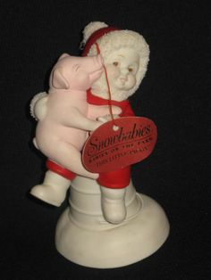 """Dept 56 Snowbabies Babies on the Farm """"This Little Piggy"""" New with Tag"""