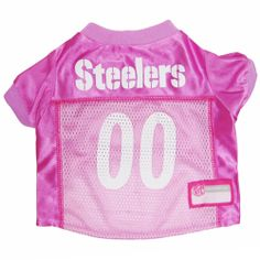 Let your dog show there team pride with this officially licensed Pittsburgh  Steelers Dog Jersey - Pink. This awesome dog jersey is made of polyester  mesh a 84044a995