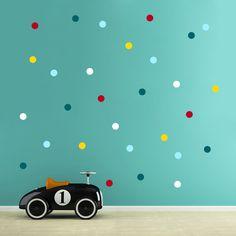 Wandtattoo Aufkleber Punkte dots 5 Farben 5cm 1770 von deinewandkunst auf DaWanda.com
