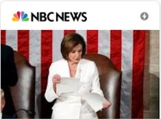 Nancy Pelosi (Literally) Rips Trump's Speech Apart Readers both praise and criticize the president's speech and the speaker's action when it was over. Nbc News, Presidents, Action, Group Action