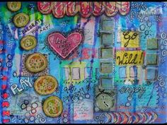 Mixed Media Art Journal Page with Zoe Ford - YouTube