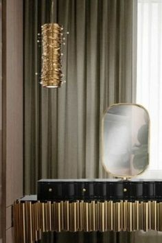 Interior design inspirations for your luxury entryway. Check more in our Blog! Entryway Lighting, Modern Chandelier, Interior Design Inspiration, Foyer, Curtains, Luxury, Blog, Check, Home Decor