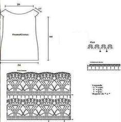 Вязание ажурного платья