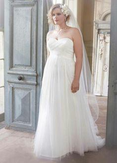Plus size wedding gown. Gorgeous.