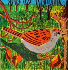 Kittie Jones   Sunlit Dunnock, 2014   screen print