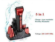 Hair Clipper KM8058 5 In 1 Waterproof Multifunction Electric Hair Clipper Razor #KM80585In1WaterproofMultifunction