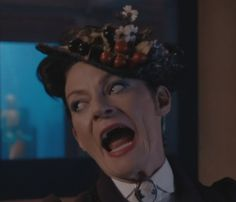 Great view of the trimmings on the hat! (Doctor Who - Missy)