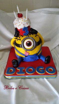 Bolos e coisas - Bolos decorados (Cake Design): Minion em festa