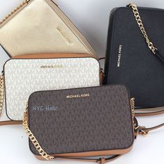 OFF Michael Kors Jet Set East West Crossbody Saffiano Leather. Limited quantity available sold / See feedback Michael Kors Jet Set, Carteras Michael Kors, Vera Bradley, Nylons, Michael Kors Fashion, Cute Bags, Womens Purses, Purse Wallet, Leather Crossbody Bag