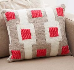 Add a modern touch to your home with this Graphic Gridwork Afghan featuring pop color accents. Shown in Waverly for Bernat. (Bernat.com)