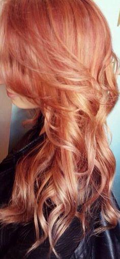 Copper rose hair