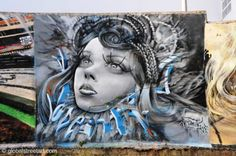 Lisbon's Odeith. His anamorphic 3D styles are some of the best I've seen   • Global Street Art