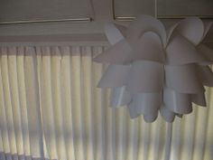 curtains in airstream; IKEA lamp