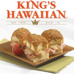 Mini Baked Ham Sandwiches are irresistibly delicious, made with KING'S HAWAIIAN Original Hawaiian Sweet Rolls - perfect for parties, game night, & family gatherings.