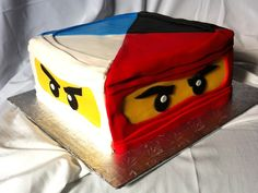 Ninjago Cake - The birthday party was at a dojo and the sensei let the birthday boy cut the cake with a sword.