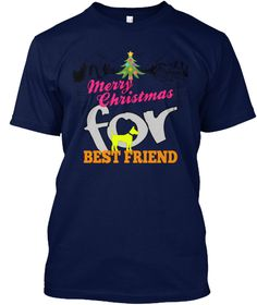 Merry Christmas For Best Friend Navy T-Shirt Front