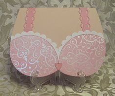Bra card, excellent for an invite to a bridal lingerie shower.