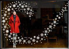 christmas Window Display Ideas | Seasonal Window Stickers for shop window displays