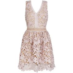 Mink Premium Lace Ladder Trim Skater Dress (4.300 RUB) ❤ liked on Polyvore featuring dresses, pink cocktail dress, special occasion dresses, fit and flare dress, evening dresses and v neck cocktail dress