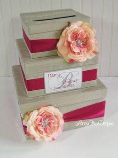 Carte personnalisée de mariage carte boîte par LaceyClaireDesigns, $113.00