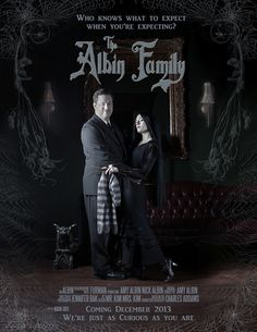 Albin Family 'We're Expecting' Announcement Poster