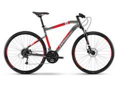 "HAIBIKE Seet Cross 3.0 pánsky 28""  2018, titan/červená/biela Merida, Trekking, Bicycle, Bike, Bicycle Kick, Bicycles, Hiking"
