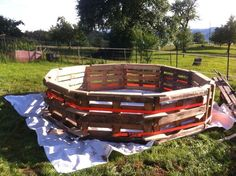 He was able to make a classic pool out of pallets.