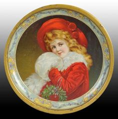 Christmas Collectibles Price Guide: CE Kenny Co. Christmas Theme Advertising Tray