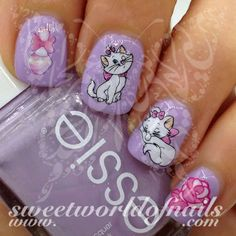 Marie The Aristocats Nail Art Water Decals Water Slides