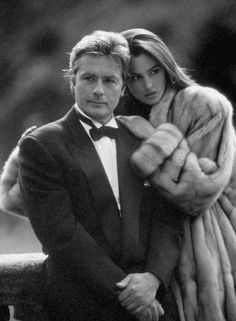 Fur and Fashion: Eternally beautiful Monica Bellucci with Alain Delon for Annabella Furs, 20 years ago Monica Bellucci, Alain Delon, Melodie En Sous Sol, Jean Claude Pascal, Jean Gabin, Merian, Trophy Wife, Catherine Deneuve, Hollywood Stars