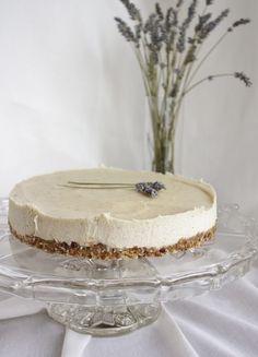 "This Rawsome Vegan Life: lavender & lemon ""cheesecake"" Definitely not healthy.but healthier than real cheesecake for sure. Raw Vegan Desserts, Vegan Treats, Vegan Foods, Raw Food Recipes, Just Desserts, Healthy Desserts, Vegan Raw, Desert Recipes, Vegan Vegetarian"