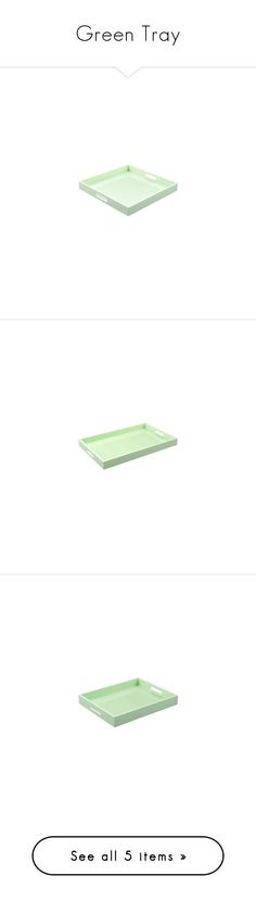 """""""Green Tray"""" by instyledecor ❤ liked on Polyvore featuring home, kitchen & dining, serveware, bedside tray, dressing table tray, green coffee table tray, green ottoman tray, green serving tray and green tray"""