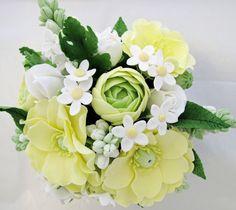 Lemon Poppy Sugar Flower Cake Topper by SweetRegard on Etsy, $150.00