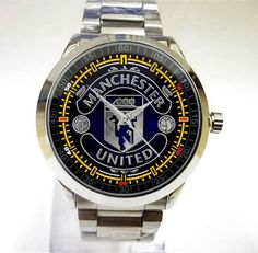 New Hot manchester united Football Club Sport Metal Watch Fit Your T-shirt