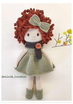 Free Crochet Doll Dress Patterns - Hobbies and Crafts World Crochet Amigurumi, Crochet Doll Pattern, Amigurumi Doll, Amigurumi Patterns, Doll Patterns, Crochet Patterns, Knitted Dolls, Crochet Dolls, Cute Crochet