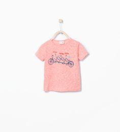 ZARA - KINDEREN - Shirt met fietsenprint