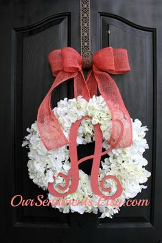 Hydrangea Wreath  Spring Wreath for Summer Wreath by OurSentiments