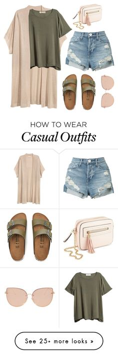"""Simple Casual #15"" by miserylovescompany on Polyvore featuring Birkenstock, 3x1, Miss Selfridge and Topshop"