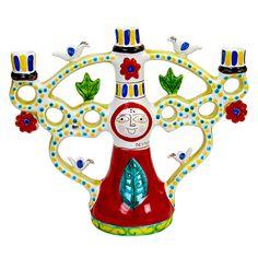 Ceramiche De Simone - Candelabras & Candle Holders - Sicilian Ceramic (Pottery) - CAN336 - Candelabro h35 cm