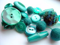 Color Azul Turquesa - Turquoise!!! Buttons