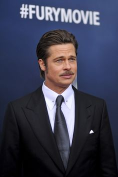 Brad Pitt looked handsome as ever at the Washington, DC premiere of his film Fury on Wednesday.