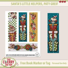 The Cherry On Top: Free Printable Book Marker From Kreative Design Studio