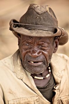 """Namibian Old Man by Gergő Antal, via . this is so """"blues"""" . We Are The World, People Around The World, Real People, Old Faces, Face Men, Pictures Of People, Interesting Faces, Old Men, Portrait Photography"""