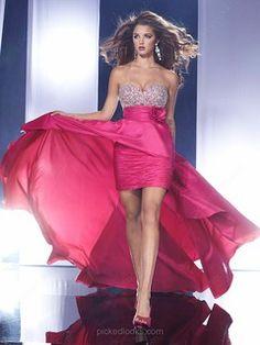 Chiffon Sweetheart Asymmetrical Sheath/Column Rhinestone Ball Dresses -NZD$170.79