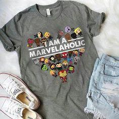 I am the Marvelholic shirt - Marvel Universe Moda Marvel, Marvel Mode, Marvel Fan, Marvel Avengers, Marvel Fashion, Geek Fashion, Fashion Tips, Loki God Of Mischief, Marvel Clothes