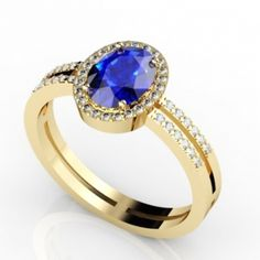 0.65 Carat Oval #Tanzanite #Ring in 14k Yellow Gold @ $1995.30