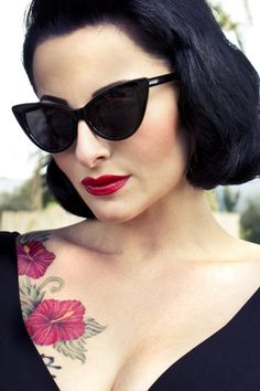 So Retro - 50s Cat Eye Sunglasses Black zonnebril